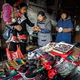Residents in the south of the Yangtze River are preparing for the Spring Festival. The ancient town of an Chang is one of the four famous ancient towns in Stock Photography