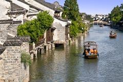 Ancient town. China Zhejiang Wuzhen tour history stock photography