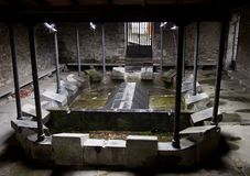Ancient town cloth washing place in Leitza Royalty Free Stock Image