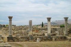 Ancient town columns Stock Photos