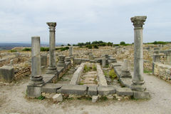 Ancient town columns temple ruins stock photography