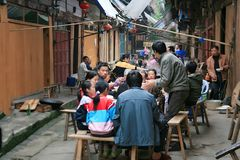 The ancient town of Datong, Chishui stock photo