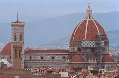 The ancient town Firenze in Italy. The ancient dome of Firenze in Italy royalty free stock image