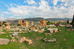 The ancient town Hierapolis, Turkey Stock Images