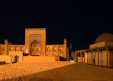 Ancient town of Khiva at night Stock Images