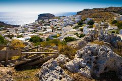 Ancient town Lindos Stock Images