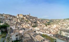 Ancient town of Matera, Basilicata, Italy Royalty Free Stock Photos