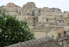 Ancient town of Matera on cloudy day Stock Photography