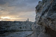 Ancient town in Matera Italy Stock Image