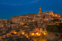 Ancient town of Matera (Sassi di Matera), Basilicata, Italy Royalty Free Stock Photos