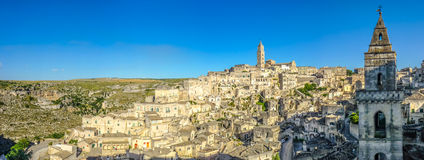 Ancient town of Matera at sunset, Basilicata, Italy Stock Photos