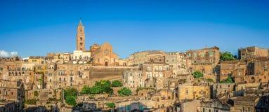 Ancient town of Matera at sunset, Basilicata, Italy Stock Image