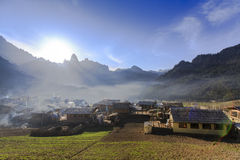 Ancient  town in the mountains Stock Images