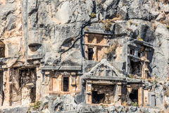 Ancient town In Myra Demre Turkey. Ancient town In Myra Demre. Turkey. Ruins Fragment Royalty Free Stock Images