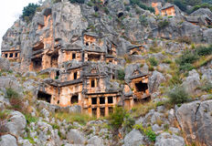 Ancient town in Myra Stock Image