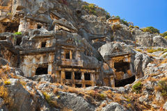 Ancient town in Myra, Turkey Stock Images