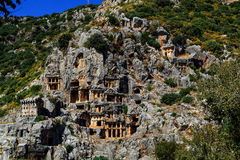 Ancient town in Myra, Turkey - archeology background Royalty Free Stock Photo