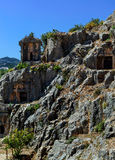 Ancient town in Myra, Turkey - archeology background Royalty Free Stock Images
