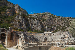 Ancient town in Myra Turkey Royalty Free Stock Photo