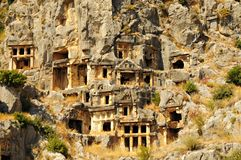 Ancient town in Myra, Turkey. Ancient ruins in Myra Turkey Royalty Free Stock Image