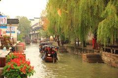 The ancient town of Nanxun at autumn. The scenery of the ancient town of Nanxun stock photography