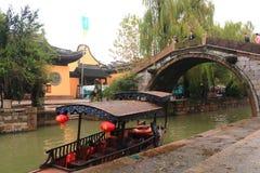 The ancient town of Nanxun at autumn. The scenery of the ancient town of Nanxun stock photo