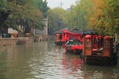 The ancient town of Nanxun at autumn. The scenery of the ancient town of Nanxun royalty free stock photo