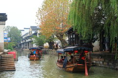 The ancient town of Nanxun at autumn stock photo