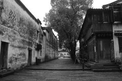 The ancient town of Nanxun at autumn. The scenery of the ancient town of Nanxun stock photos