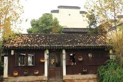 The ancient town of Nanxun at autumn. The scenery of the ancient town of Nanxun royalty free stock photos