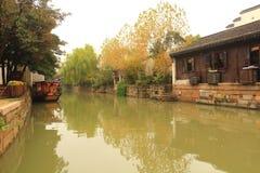 The ancient town of Nanxun at autumn. The scenery of the ancient town of Nanxun stock images