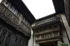 The ancient town of Nanxun. The buildings of the ancient town of Nanxun royalty free stock photos