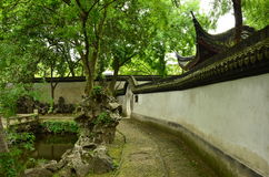The ancient town of Nanxun. The gardens of the ancient town of Nanxun royalty free stock image