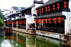 The ancient town of Nanxun royalty free stock photo