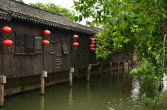 The ancient town of Nanxun. The scenery of the ancient town of Nanxun royalty free stock photo