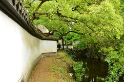 The ancient town of Nanxun. The walls of the ancient town of Nanxun royalty free stock photos
