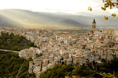 Ancient town of Pacentro (Italy) Royalty Free Stock Photos