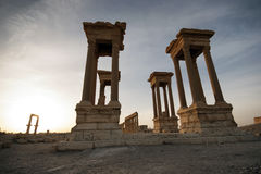 Ancient town in Palmyra Stock Image