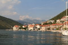 The ancient town of Perast in Montenegro Royalty Free Stock Image