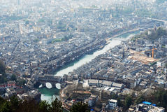 The ancient town of Phoenix Tuojiang River Stock Photography
