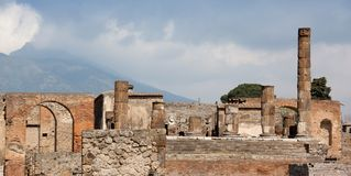 Ancient town Pompeii in Italy Stock Photography