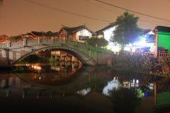Ancient Town of Qibao at night, Shanghai Stock Image