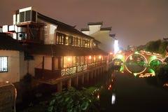Ancient Town of Qibao at night, Shanghai Royalty Free Stock Photos