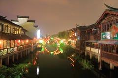 Ancient Town of Qibao at night, Shanghai Royalty Free Stock Image
