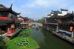 Ancient Town of Qibao, Shanghai Royalty Free Stock Photography