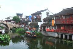Ancient Town of Qibao, Shanghai Stock Image