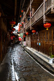 The ancient town in the rain Royalty Free Stock Image
