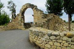 Ancient town ruins, Volubilis, Morocco Stock Photography