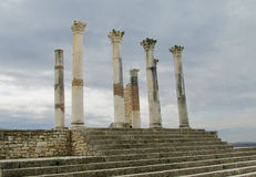 Ancient town ruins, Volubilis, Morocco Stock Photo
