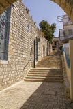 Ancient town Sefad Narrow street Stock Photography